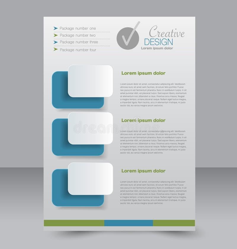 Conception de brochure Calibre d'insecte Affiche A4 Editable illustration de vecteur