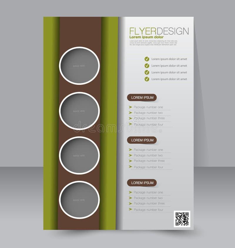 Conception de brochure Calibre d'insecte Affiche A4 Editable illustration stock