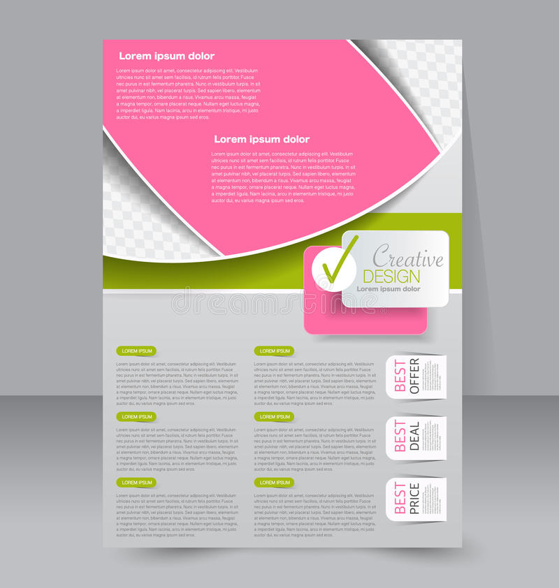 Conception de brochure Calibre d'insecte Affiche A4 Editable illustration de vecteur