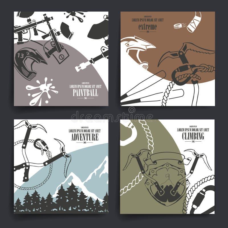 Conception de brochure ou d'insectes Thème extrême de sport illustration de vecteur