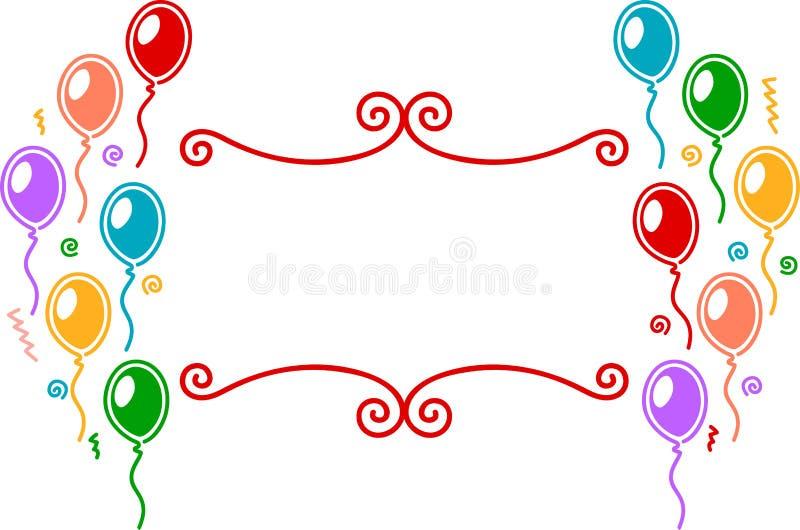 Conception De Célébration De Ballons Images stock
