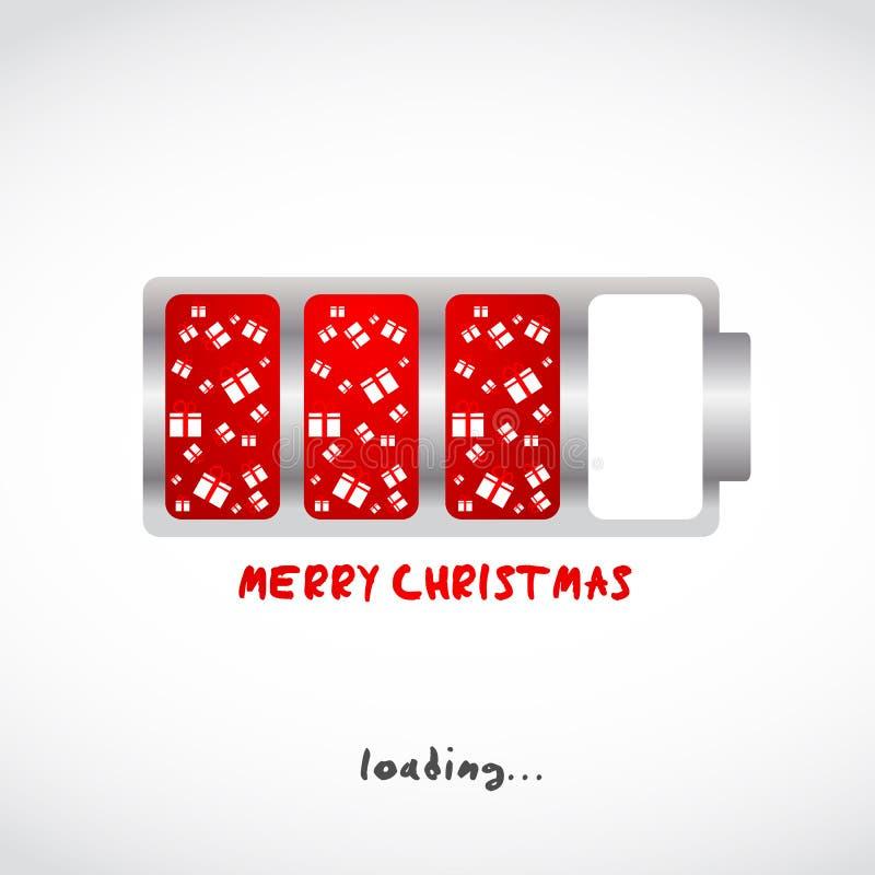 Conception de cadeaux de Joyeux Noël illustration stock