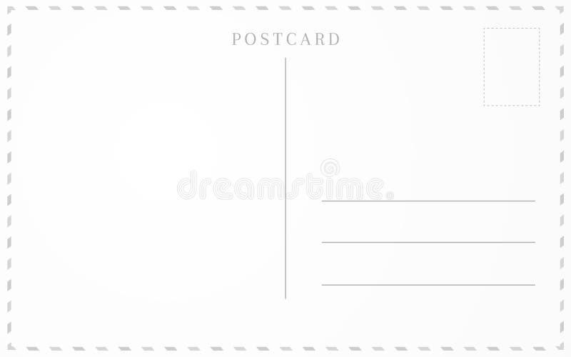 Conception de cadre de carte postale illustration de vecteur