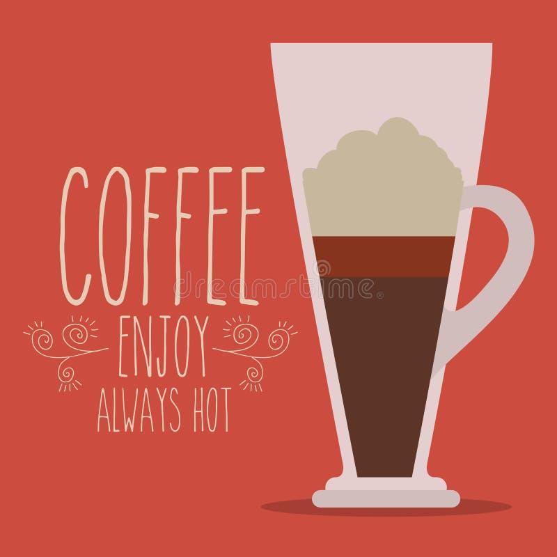 Conception de café illustration libre de droits