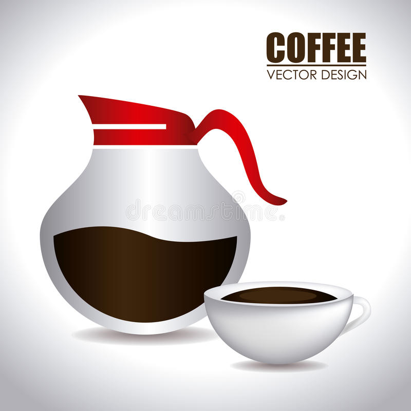 Conception de café illustration stock