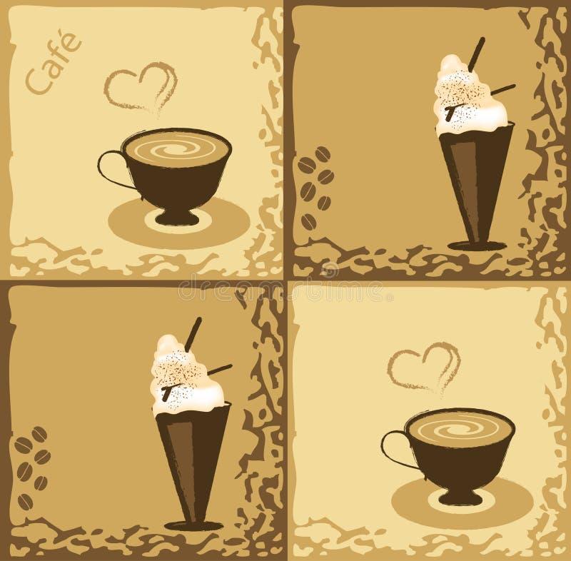 Conception de café illustration de vecteur
