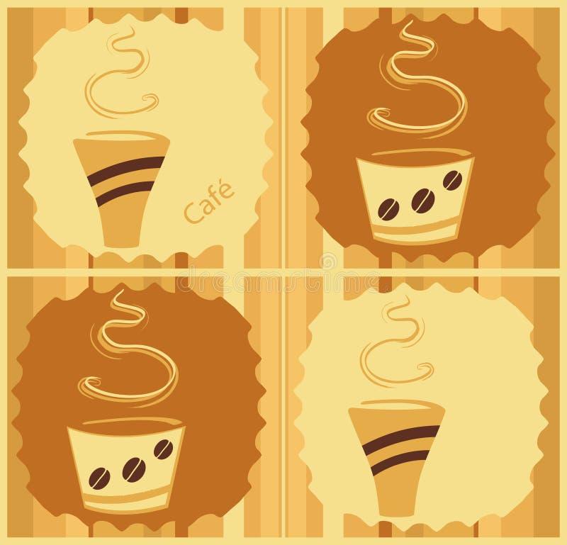 Conception de café illustration stock