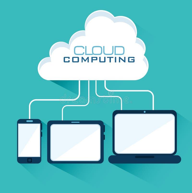 Conception de calcul de nuage illustration de vecteur