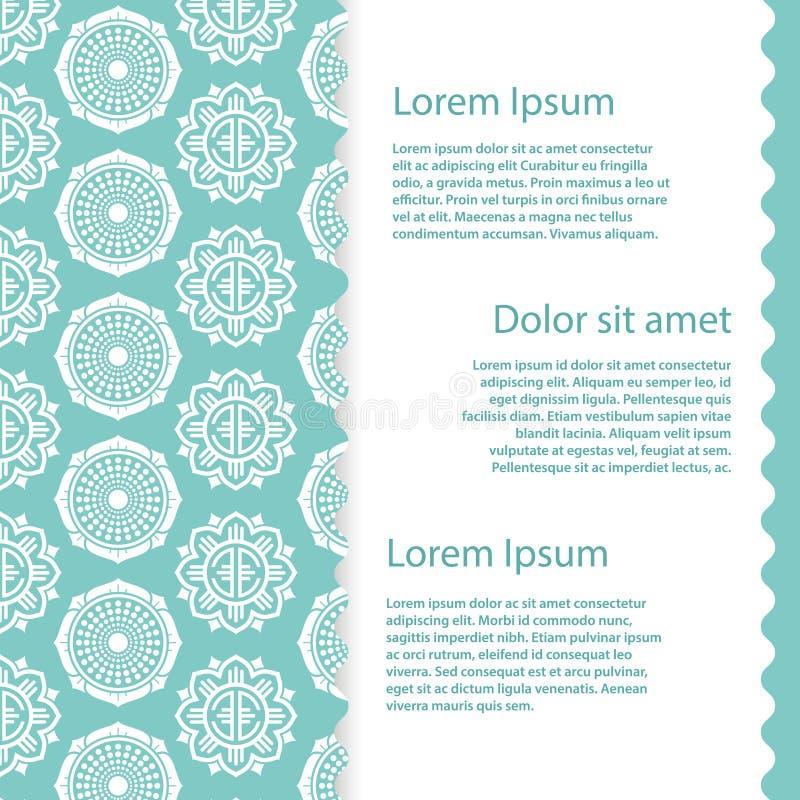 Conception de calibre de bannière de vecteur Fond avec les éléments floraux asiatiques abstraits illustration de vecteur