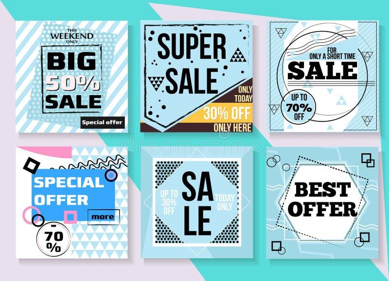Conception de calibre de bannière de vente offre spéciale, fin de saison, ce week-end seulement illustration stock