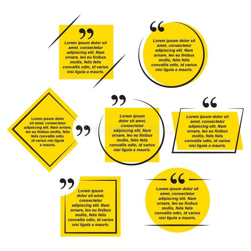 Conception de calibre de collection de formes de citations illustration libre de droits