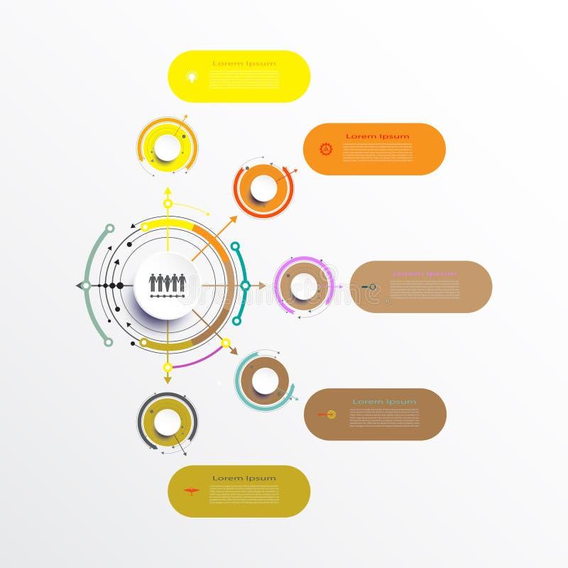 Conception de calibre d'infographics de vecteur illustration de vecteur