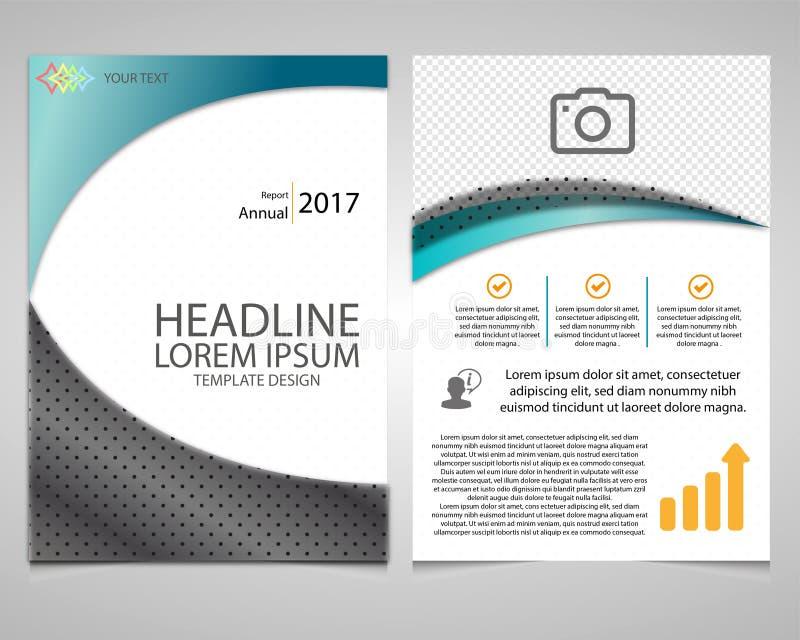 Conception de calibre d'insecte de brochure de tract de rapport annuel, disposition de couverture de livre illustration stock