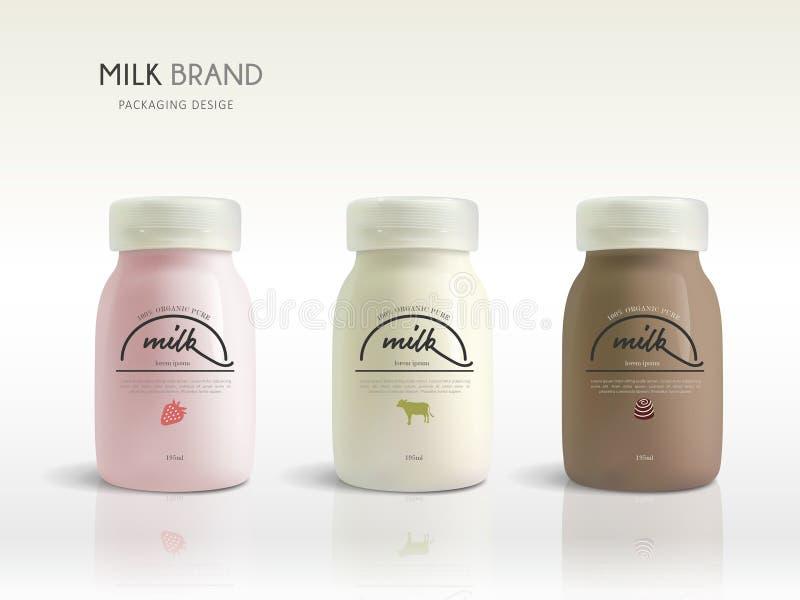 Conception de calibre de bouteille à lait illustration stock