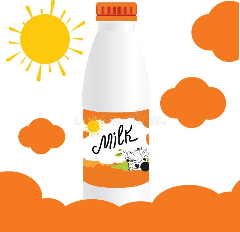 Conception de calibre de bouteille à lait de vecteur illustration de vecteur