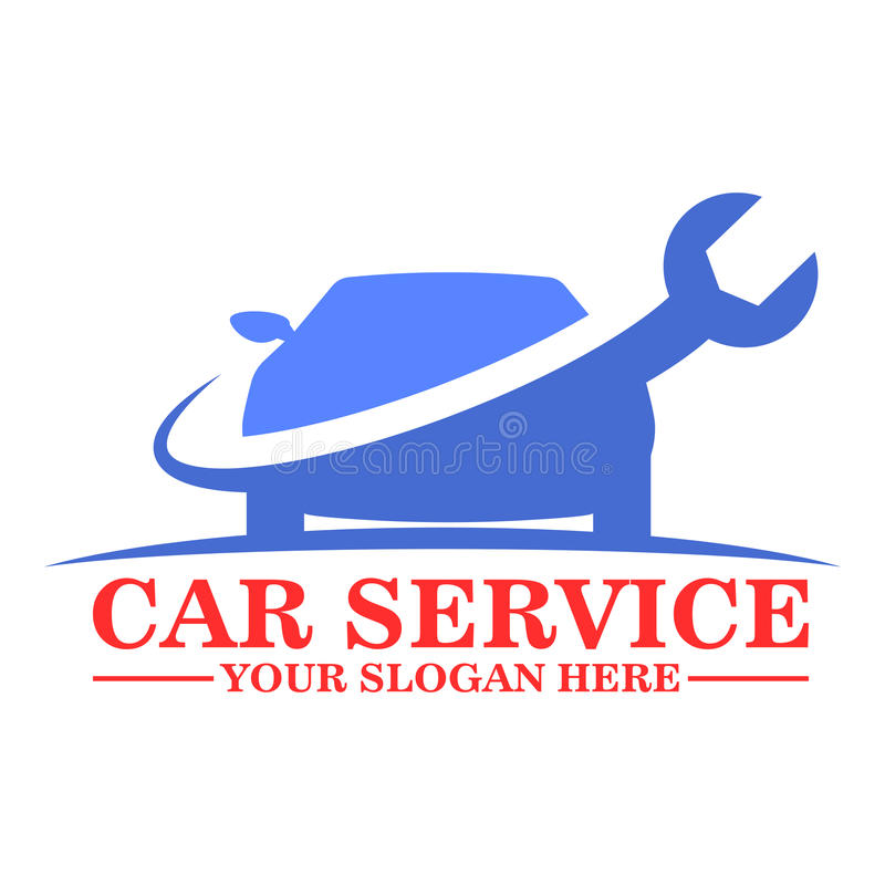 Conception de calibre de logo de service de voiture illustration libre de droits