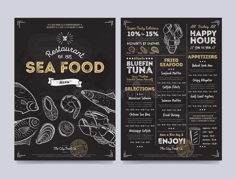 Conception de calibre de menu de café de restaurant, vecteur illustration de vecteur