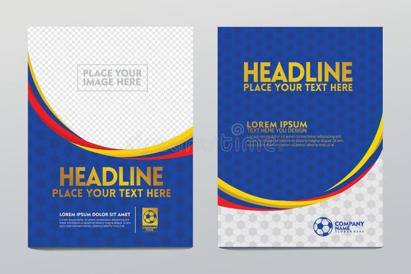 Conception de calibre de disposition de l'affiche ou la couverture et les utilisateurs d'autres pour la manifestation sportive du illustration de vecteur