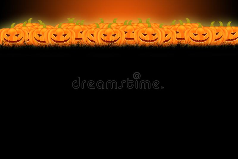 Conception de calibre de Halloween avec l'espace pour le texte ou le message photographie stock