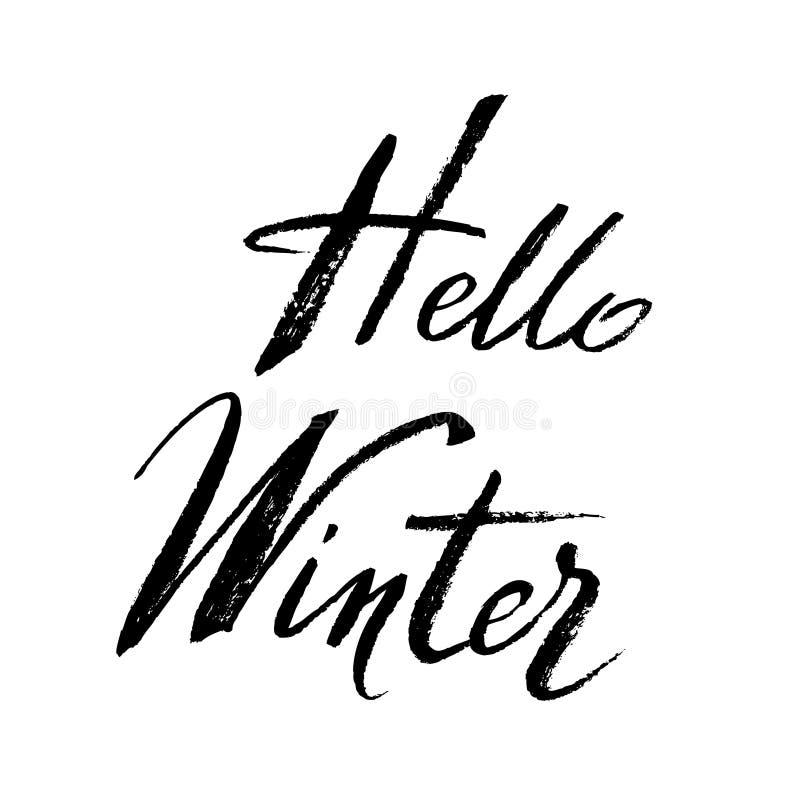 Conception de callygraphy d'hiver illustration de vecteur