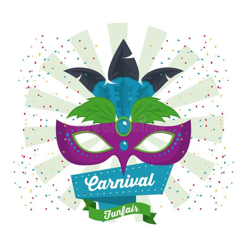 Conception de carnaval de mascara illustration stock