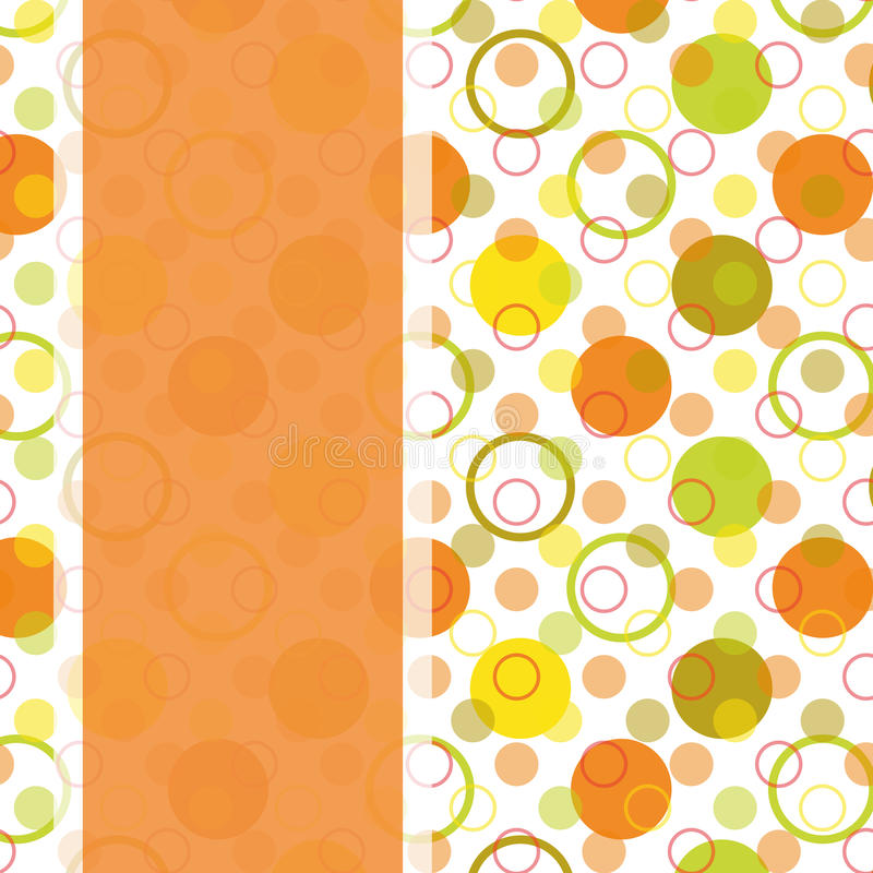 Conception de carte avec le point de polka coloré image libre de droits
