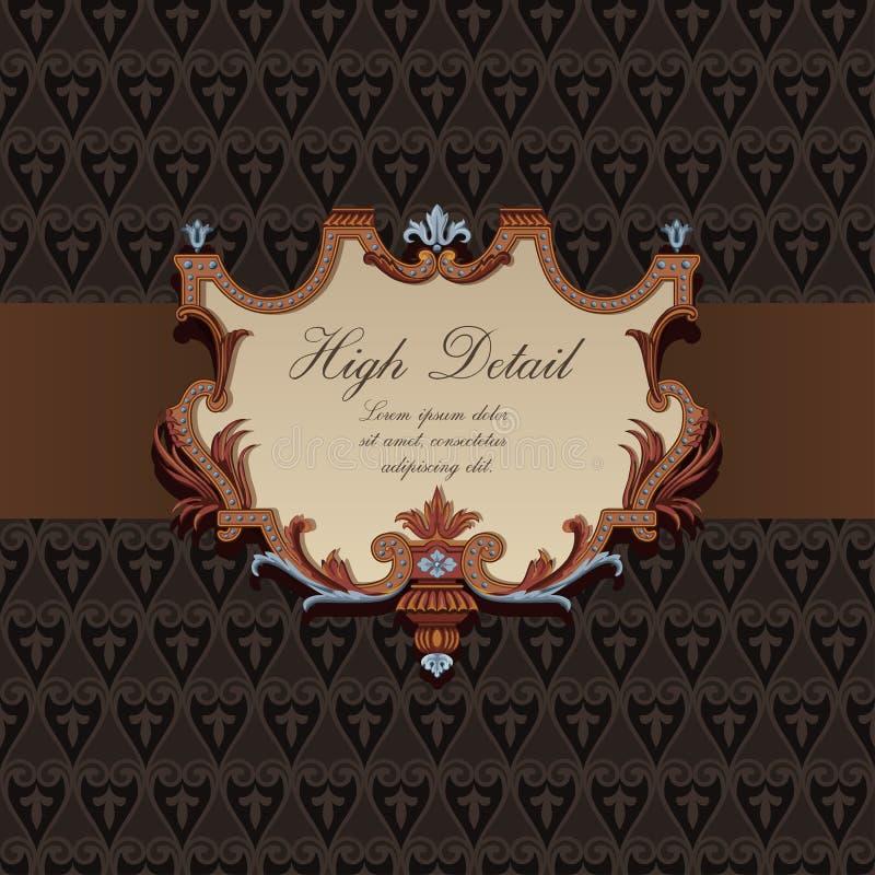 Conception de carte de cadeau dans le type de cru. illustration libre de droits