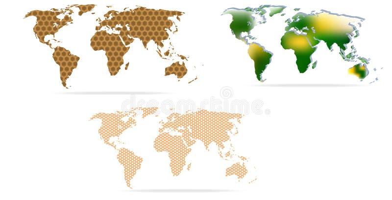 Conception de carte de la terre image stock