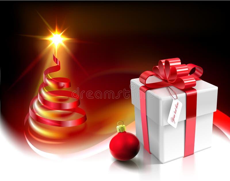 Conception de carte de Noël de vecteur illustration stock