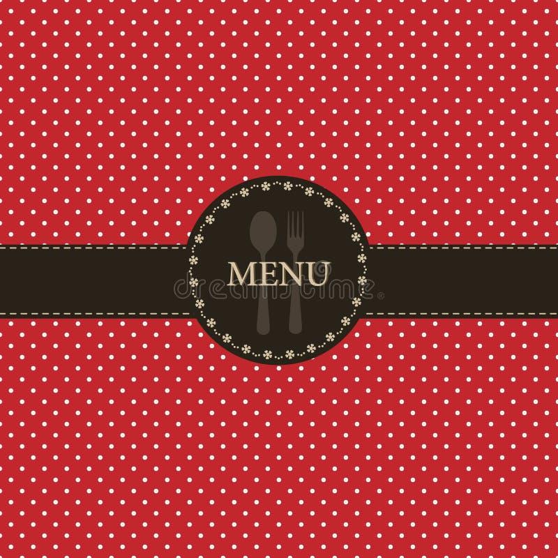 Conception de carte de restaurant illustration de vecteur