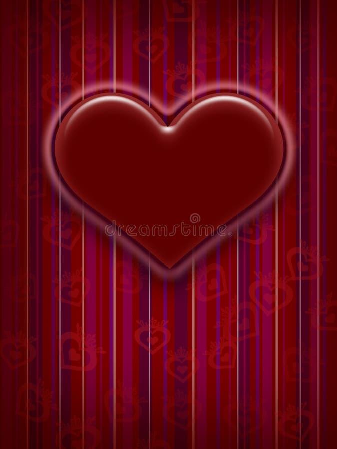 Conception de carte du jour de Valentine illustration stock