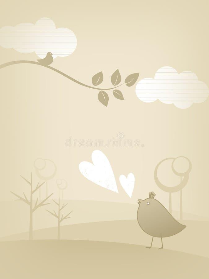 Conception de carte du jour de Valentine illustration libre de droits