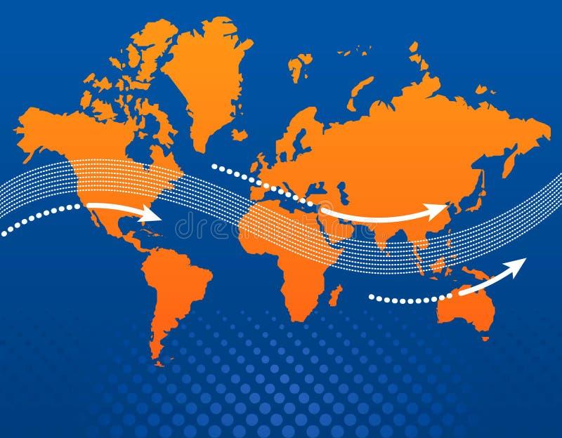 Conception de carte du monde   illustration de vecteur