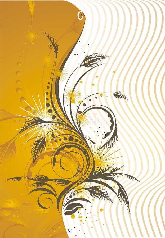Conception de carte florale stylisée illustration de vecteur