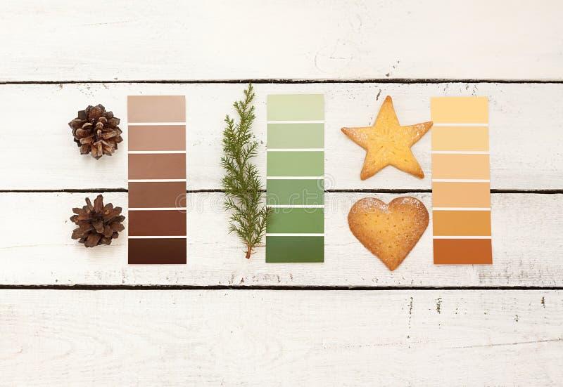 Conception de carte postale ou d'affiche de Noël images stock