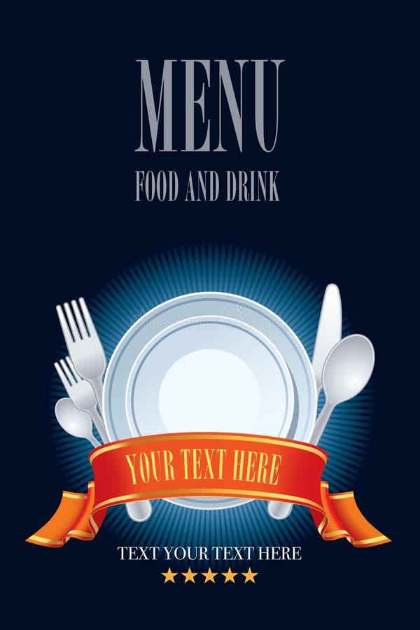 Conception de carte de restaurant illustration stock