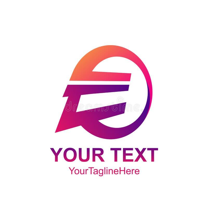 Conception de cercle de colorfull de calibre de logo de la lettre initiale E pour le busin illustration libre de droits