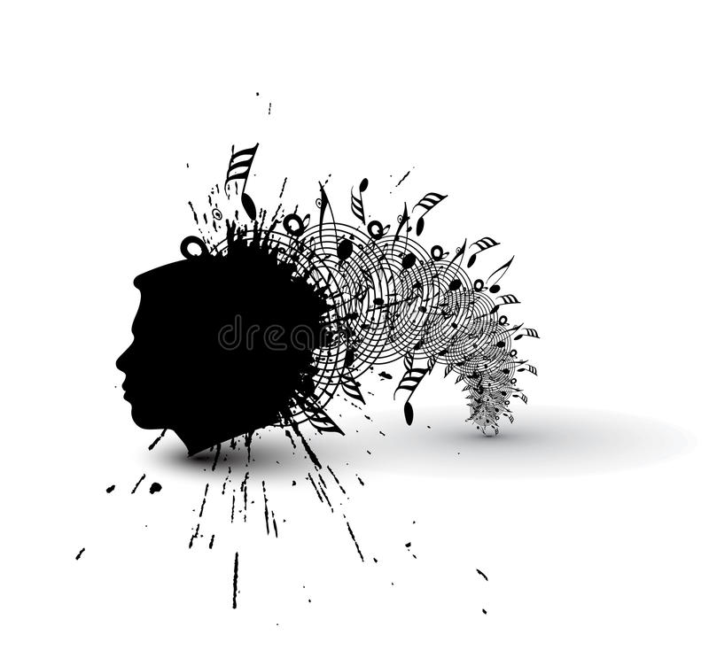 Conception de cerveau de remous illustration stock