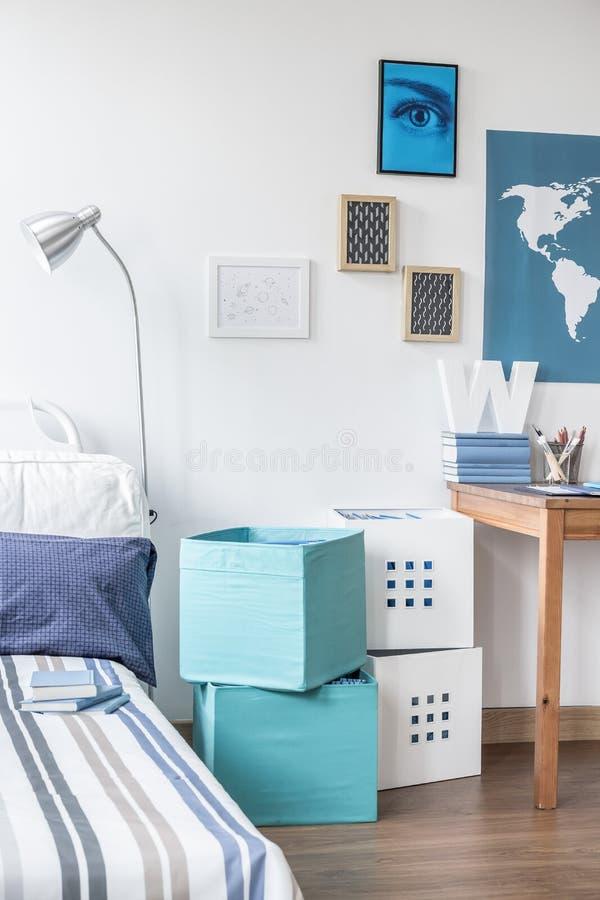 Download conception de chambre à coucher dadolescent image stock image du cadres