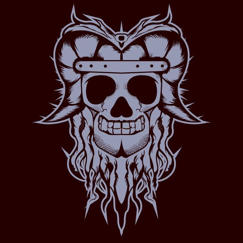 Conception de chemise de crâne d'Adiatonic illustration de vecteur