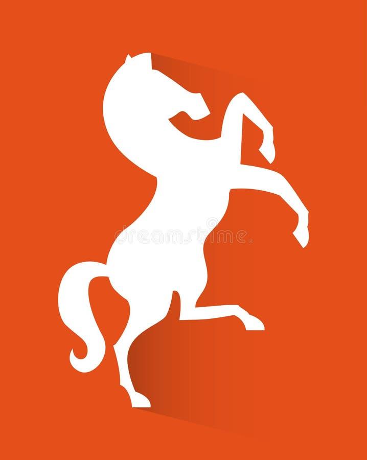 Conception de cheval illustration de vecteur