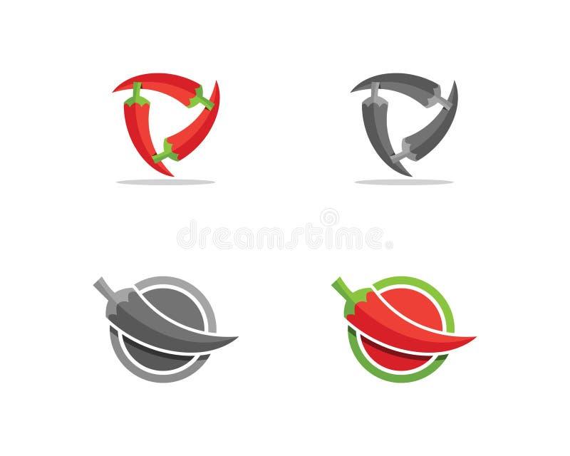 Conception de Chili Logo et d'icône images libres de droits