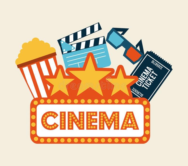 Conception de cinéma illustration stock