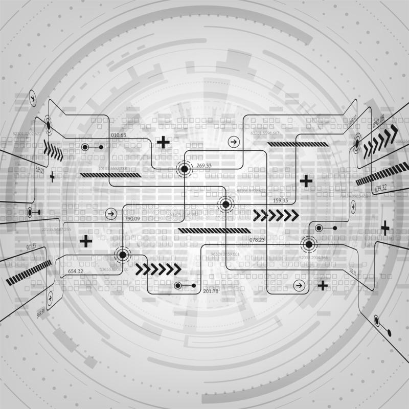 Conception de circuit électronique abstraite de technologie de fond de vecteur illustration stock