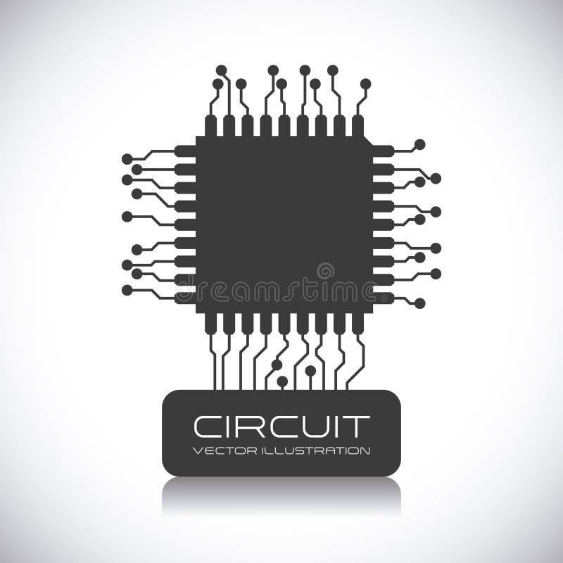 Conception de circuit illustration stock