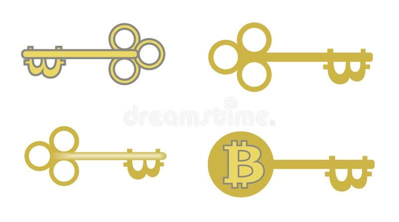 Conception de clé de Bitcoin pour vous projet illustration libre de droits