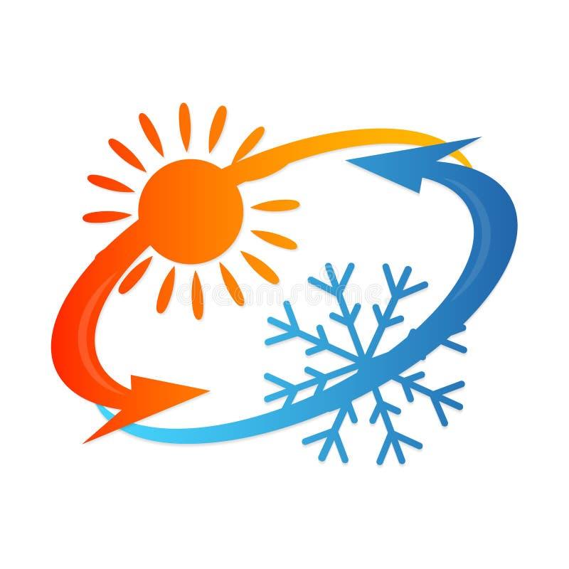 Conception de climatiseur illustration stock