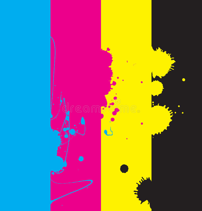 Conception de Cmyk illustration de vecteur