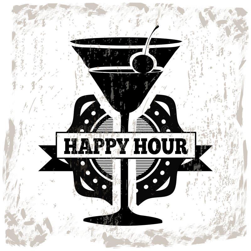 Conception de cocktails illustration libre de droits