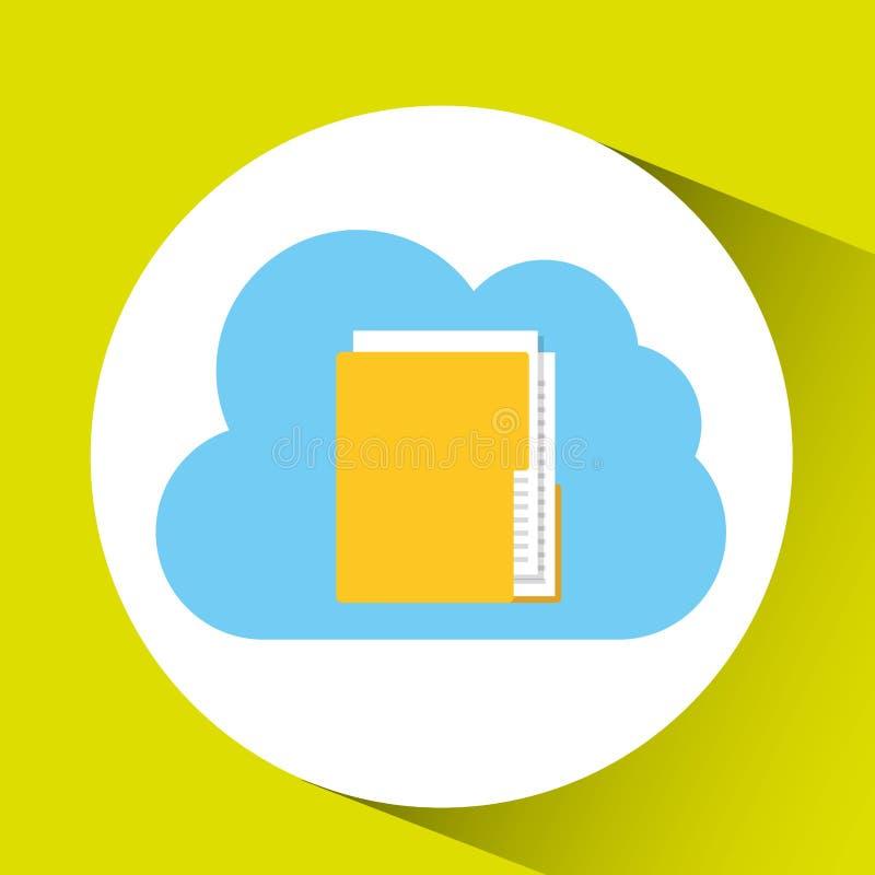 conception de connexion de dossier de dossier de technologie de nuage illustration libre de droits